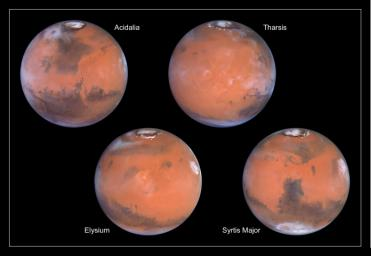 A Closer Hubble Encounter With Mars - 4 Views