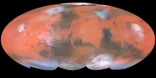 A Closer Hubble Encounter With Mars - Global View