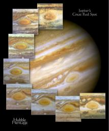 Hubble Views Ancient Storm in the Atmosphere of Jupiter - Montage
