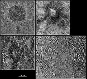 Large Impact Structures on Europa