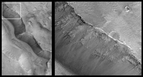 Layers in Cratered Highland Crust Exposed by Tagus Vallis
