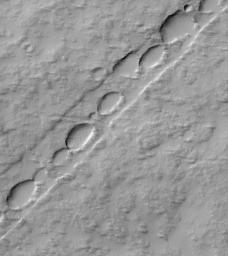 Chain of Pits on Pavonis Mons