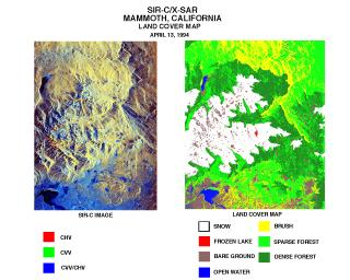 Space Radar Image of Mammoth, California