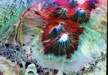 Space Radar Image of Kiluchevskoi, Volcano, Russia