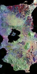 Space Radar Image of Taal Volcano, Philippines