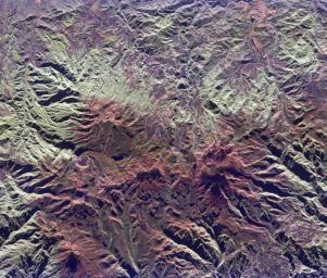 Space Radar Image of Ruiz Volcano, Colombia