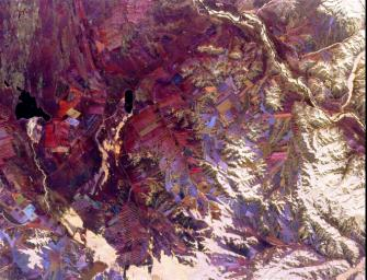 Space Radar Image of Tuva, Central Asia