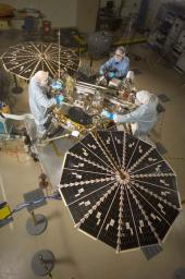 Phoenix Mars Lander with Solar Arrays Open