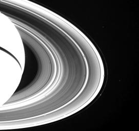 Spokes on Side of Saturn's Rings