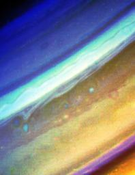 Voyager 2 Image of Saturn