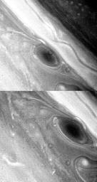 Large Brown Spot in Saturn's Atmosphere