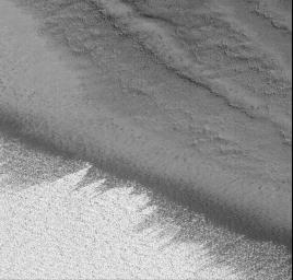 On the Edge: The Retreating Mars Polar Ice Cap