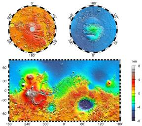 Maps of Mars Global Topography