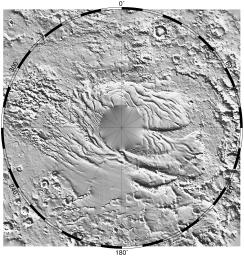 South Polar Topography (MOLA)