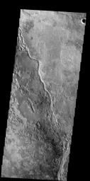 The channel in this image is called Apsus Vallis and it is located near  the Elysium volcanic complex. Lava may have played a part in the formation  of Apsus Vallis