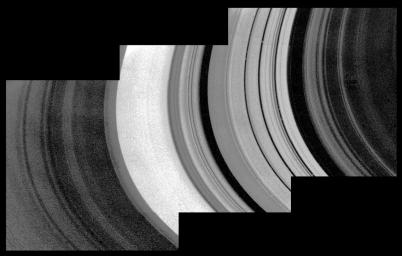Mosaic of Saturn's rings