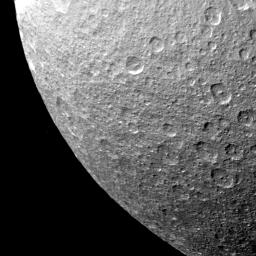 Rhea - Multiple Impact Craters
