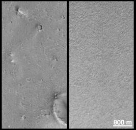 Mars Polar Lander and Mars Pathfinder Sites Compared