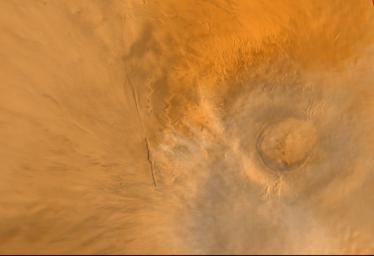 Wide Angle View of Arsia Mons Volcano