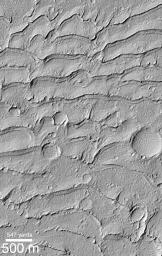 Ancient Paleo-Dunes Battered by Impact Craters