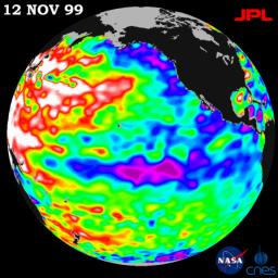 TOPEX/El Ni�o Watch - Mild La Ni�a Conditions Developing, November 12, 1999
