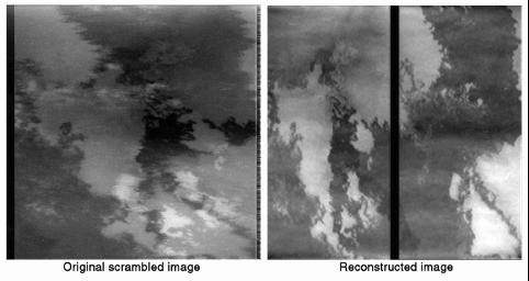 Reconstruction of Scrambled Io Images