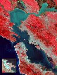This image of the San Francisco Bay region was acquired on March 3, 2000 by the Advanced Spaceborne Thermal Emission and Reflection Radiometer (ASTER) on NASA's Terra satellite.