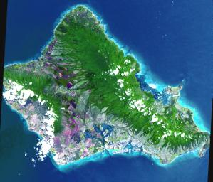 This image, acquired by NASA's Terra satellite on June 3, 2000 captured almost the entire island of Oahu, Hawaii.