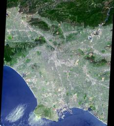 This image of Los Angeles, Calif. was acquired on July 23, 2001 by NASA's Terra satellite.