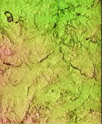 Shaded Relief of South Africa, Northern Cape Province
