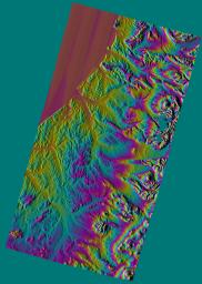 Shaded Relief Color Wrapped, Kamchatka Peninsula, Russia