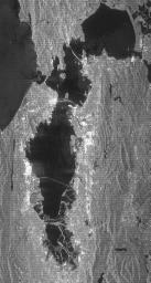 This radar image acquired by NASA's Shuttle Radar Topography Mission (SRTM) from data collected on February 16, 2000 shows the San Francisco Bay Area in California.