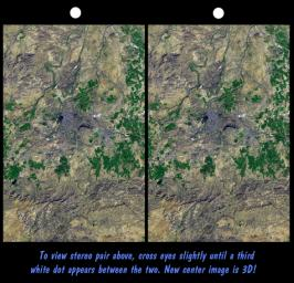 SRTM Stereo Pair: Bhuj, India, Two Weeks After earthquake