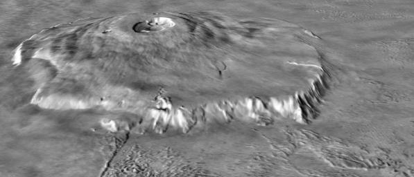 Major Martian Volcanoes from MOLA - Olympus Mons