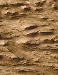 Layered Outcrops of Far West Candor Chasma