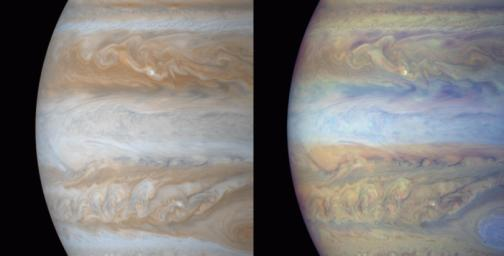 Jupiter in True and False Color