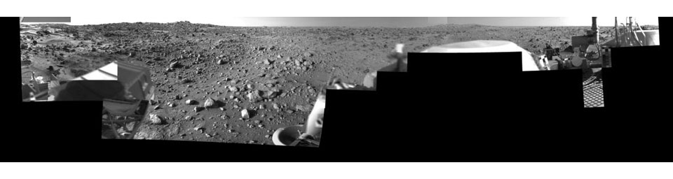 Morning on Chryse Planitia - Viking Lander 1 Camera 2 Mosaic