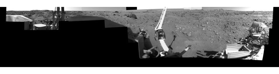 Afternoon on Chryse Planitia - Viking Lander 1 Camera 1 Mosaic