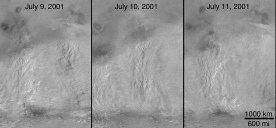 The 2001 Great Dust Storms - Daedalia/Claritas/Syria Dust Plumes