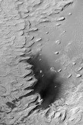Ancient Layered Rocks in Schiaparelli Crater