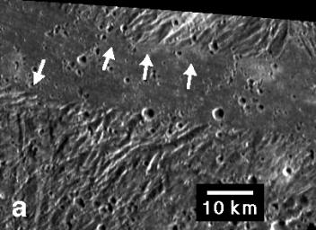 Ridges and Troughs in Sippar Sulcus, Ganymede