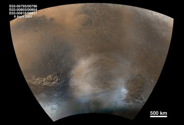 Mid-Winter Dust Storms Near Hellas Planitia