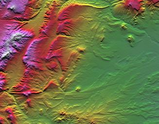 Topographic data provided by NASA's Shuttle Radar Topography Mission can provide many clues to geologic history and processes.
