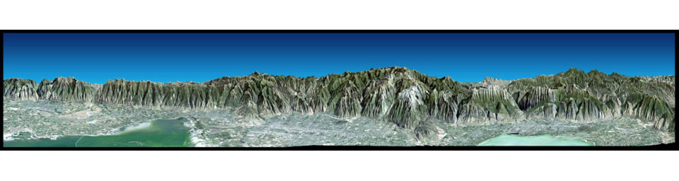 Perspective View with Landsat Overlay, Salt Lake City, Utah