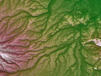 Pando Province, Northern Bolivia, Shaded Relief and Colored Height