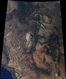 The breathtaking beauty of the western United States is apparent in this image from data acquired between April 2000 and September 2001 from the Multi-angle Imaging SpectroRadiometer on NASA's Terra spacecraft.