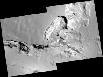 Collapsing Cliff at Telegonus Mensa, Io