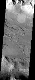 This landslide occurred in Coprates Chasma