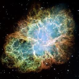 The Crab Nebula is one of the most intricately structured and highly  dynamical objects ever observed. The new Hubble image of the Crab was  assembled from 24 individual exposures taken with the NASA/ESA Hubble  Space Telescope