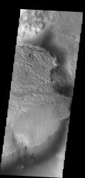 This interesting deposit is located on the floor of Becquerel Crater